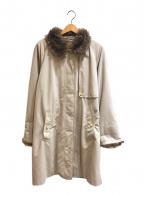 Burberry's()の古着「[OLD]ボアカラーステンカラーコート」 グレー