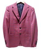 SOVEREIGN(ソブリン)の古着「2Bチェックジャケット」|レッド