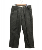 WESTOVERALLS(ウエストオーバーオールズ)の古着「デニムトラウザーパンツ」|ブラック