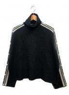 MSGM(エムエスジーエム)の古着「サイドロゴタートルニット」|ブラック