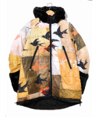 KAMISHIMA CHINAMI YELLOW(カミシマチナミイエロー)の古着「リバーシブルダウンジャケット」|マルチカラー