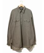 RRL(ダブルアールエル)の古着「プルオーバーブラウンシャンブレーシャツ」|グレー