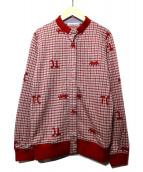 tsumori chisato(ツモリチサト)の古着「ニットカーディガン」|レッド