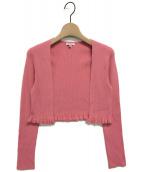 TOCCA(トッカ)の古着「シルクボレロカーディガン」|ピンク