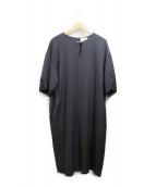 UNITED ARROWS(ユナイテッドアローズ)の古着「バルーンスリーブワンピース」|ブラック