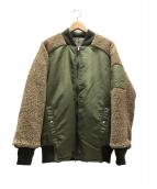 SWAGGER(スワッガ)の古着「リバーシブルMA-1ジャケット」|カーキ