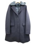 HERNO(ヘルノ)の古着「レイヤードコート」|ネイビー