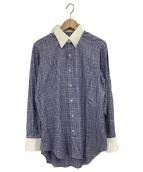 TOMORROW LAND PILGRIM(トゥモローランドピルグリム)の古着「グレンチェックシャツ」|ブルー