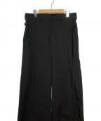 DAMIR DOMA(ダミールドマ)の古着「ベルトデザインパンツ」|ブラック