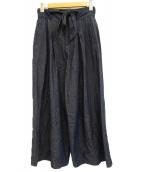 UN3D.(アンスリード)の古着「ベルデットワイドパンツ」|インディゴ