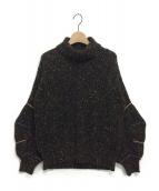 TOGA PULLA(トーガ プルラ)の古着「Tweed Knit High Neck Sweater」|ブラック