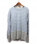 COMME des GARCONS SHIRT BOY(コムデギャルソンシャツ ボーイ)の古着「ボーダーカットソー」 グレー