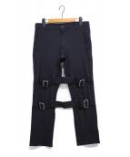 COMME des GARCONS SHIRT(コムデギャルソンシャツ)の古着「ギャバジンボンテージパンツ」|ネイビー