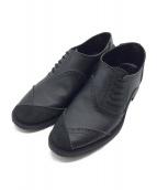 COMME des GARCONS HOMME PLUS(コムデギャルソンオムプリュス)の古着「ブローグシューズ」|ブラック