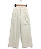 Ameri VINTAGE(アメリビンテージ)の古着「LITTLE LINEN PANTS」|ホワイト