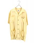 坩堝 RUTSUBO(ルツボ)の古着「オープンカラーシャツ」|イエロー