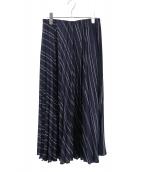 DRESSTERIOR(ドレステリア)の古着「ストライププリーツスカート」|ネイビー