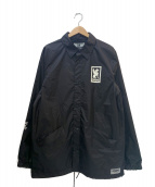 CHROME(クローム)の古着「バックロゴプリントコーチジャケット」 ブラックホワイト