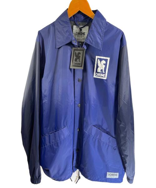 CHROME(クローム)CHROME (クローム) LOGO COACH JACKET ネイビー サイズ:M 未使用品 JP051NVNVの古着・服飾アイテム