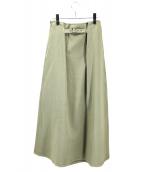 Whim Gazette(ウィムガゼット)の古着「SORDEVOLOツイードスカート」|オリーブ