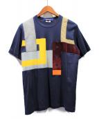 JUNYA WATANABE COMME des GARCONS MAN(ジュンヤワタナベ コムデギャルソン マン)の古着「パッチワークTシャツ」|ネイビー