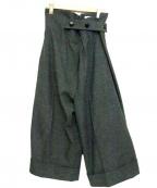 OBLI(オブリ)の古着「フリルワイドパンツ」 グレー