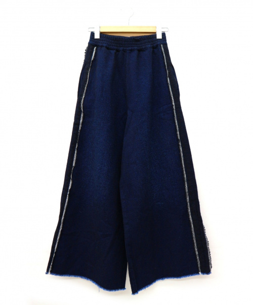 GOLDEN GOOSE(ゴールデングース)GOLDEN GOOSE (ゴールデングース) ウール混ワイドパンツ ネイビー サイズ:S イタリア製の古着・服飾アイテム