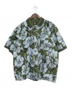 LIAM HODGES(リアムホッジス)の古着「PARADISE GOLDFINCH SHIRT」|オリーブ