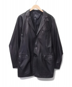 allegri(アレグリ)の古着「レザージャケット」 ブラック