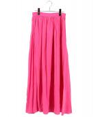 ESTNATION(エストネーション)の古着「ギャザースカート」|ピンク