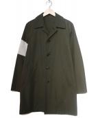 MR.GENTLEMAN(ミスタージェントルマン)の古着「ステンカラーコート」|カーキ