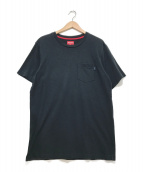 SUPREME(シュプリーム)の古着「ポケットTシャツ」 ネイビー