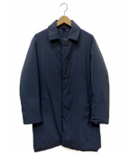 UNITED ARROWS(ユナイテッドアローズ)の古着「シンダウンステンカラーコート」|ネイビー
