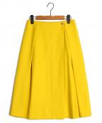 DRAWER(ドゥロワー)の古着「フランネルラップスカート」|イエロー