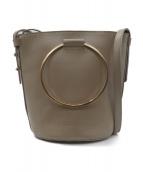 VIOLAdORO(ヴィオラドーロ)の古着「リングハンドルバケツ型バッグ」|ベージュ