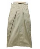 GRACE CONTINENTAL(グレースコンチネンタル)の古着「ロングチノスカート」 ベージュ