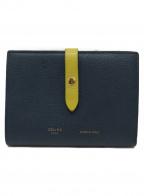 CELINE()の古着「2つ折り財布」|ネイビー×イエロー