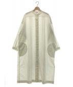 ARTS&SCIENCE(アーツ&サイエンス)の古着「Back tuck bulky shirt dress」|ホワイト
