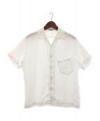 ARTS&SCIENCE(アーツ&サイエンス)の古着「ヘンプオープンカラーシャツ」|ホワイト