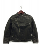 BRU NA BOINNE(ブルーナボイン)の古着「ホースハイドアランジャケット」|ブラック