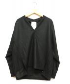 ELENDEEK(エレンディーク)の古着「パネルドルマンカットソー」 ブラック