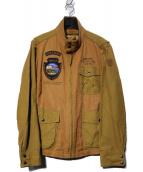 AVIREX(アヴィレックス)の古着「M-421Aアンオフィシャルジャケット」 ベージュ