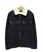 SHIPS JET BLUE(シップスジェットブルー)の古着「ミリタリーボアブルゾン」 ブラック