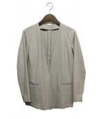 qualite(カリテ)の古着「ストレッチウールノーカラージャケット」|グレー