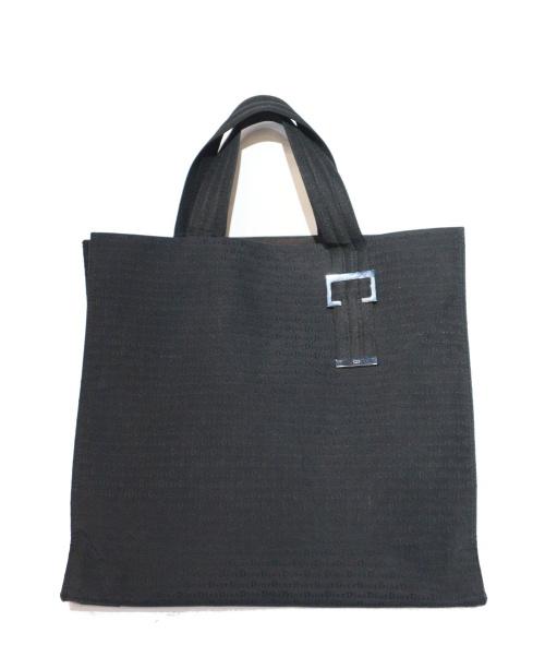 Dior Homme(ディオールオム)Dior Homme (ディオールオム) ジャガード柄トートバッグ ブラック 12BM-1022の古着・服飾アイテム