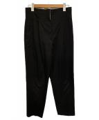 PS Paul Smith(ピーエスポールスミス)の古着「フロッドオーバーパンツ」|ブラック