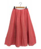 KEITA MARUYAMA(ケイタ マルヤマ)の古着「ジュースカラーボイルスカート」 レッド