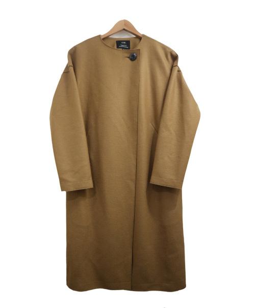 23区(23ク)23区 (23ク) コンプレストジャージーゆる美人コート キャメル サイズ:32 参考定価¥39.800の古着・服飾アイテム