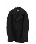 D&G(ドルチェアンドガッバーナ)の古着「エポーレット付きPコート」|ブラック