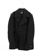 D&G(ドルチェ&ガッバーナ)の古着「エポーレット付きPコート」|ブラック